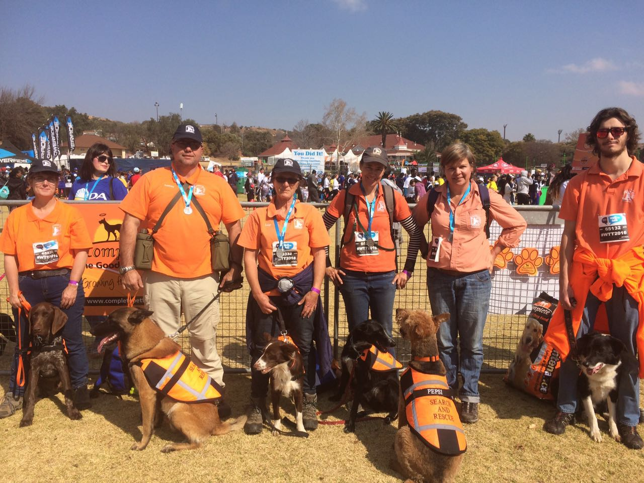 K9 Team raising awareness at Walk-The-Talk